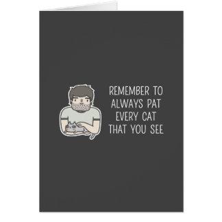 Cat Patting Card