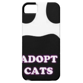 Cat Paw Adopt Cats with Cute Lettering FUN! Case For The iPhone 5