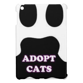 Cat Paw Adopt Cats with Cute Lettering FUN! iPad Mini Cover