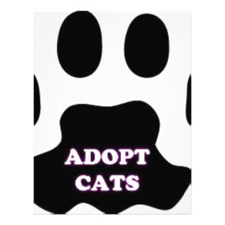 Cat Paw Adopt Cats with Cute Lettering FUN! Letterhead