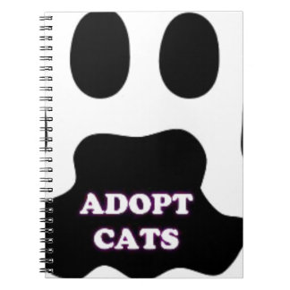 Cat Paw Adopt Cats with Cute Lettering FUN! Notebook