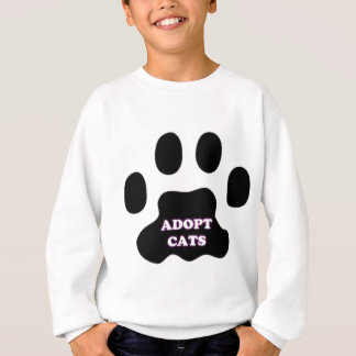 Cat Paw Adopt Cats with Cute Lettering FUN! Sweatshirt