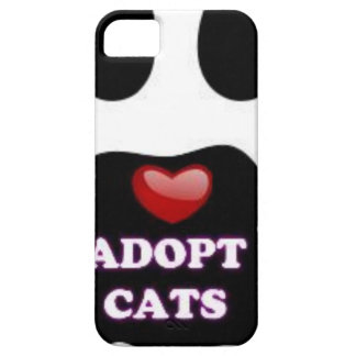 Cat Paw Adopt Cats with Cute Red Heart Kittahz iPhone 5 Case