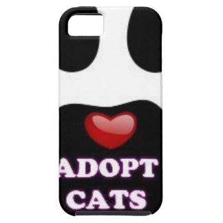 Cat Paw Adopt Cats with Cute Red Heart Kittahz iPhone 5 Cover