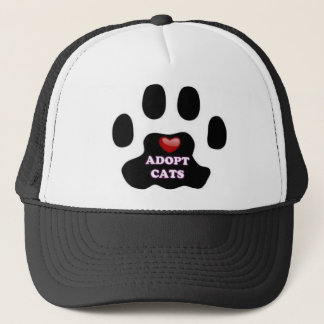 Cat Paw Adopt Cats with Cute Red Heart Kittahz Trucker Hat