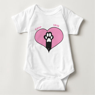 Cat paw baby bodysuit