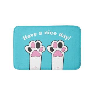Cat paw bath mat