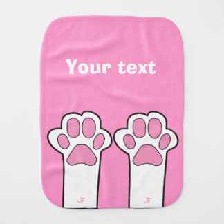Cat paw burp cloth