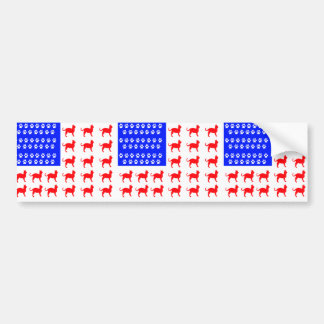 Cat + Paw Flag Bumper Sticker