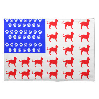 Cat + Paw Flag Placemat