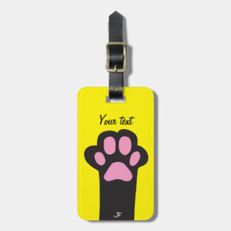 Cat paw luggage tag