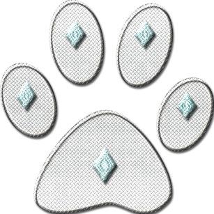 Blue Cat Paw Stickers | Zazzle CA