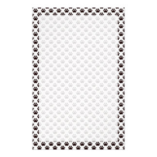 Cat Paw Print Pattern Stationery