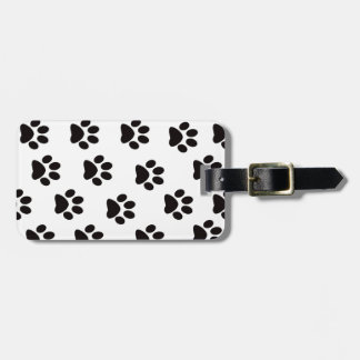 Cat Paw Prints Luggage Tag