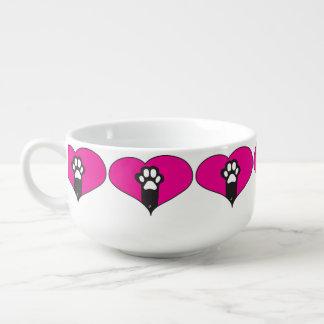 Cat paw soup mug