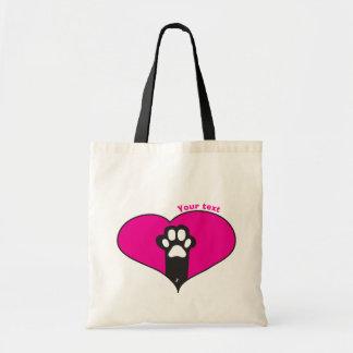 Cat paw tote bag