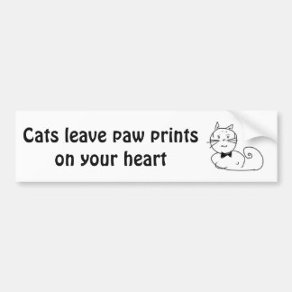 Cat paws bumper sticker