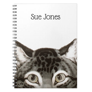 Cat Peeking Spiral Notebook. Notebooks