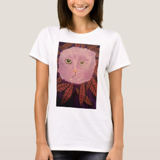 Cat peeping through the bushes t-shirt. T-Shirt