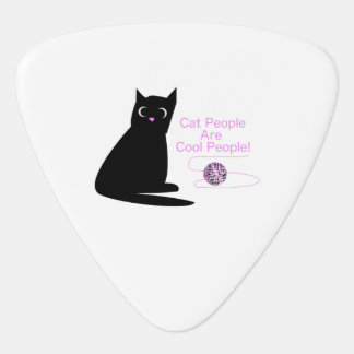 Cat People Are Cool People Guitar Pick
