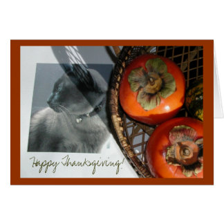 Cat & Persimmons Card