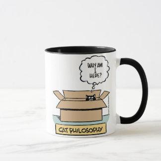 Cat Philosophy Large Ringer Mug