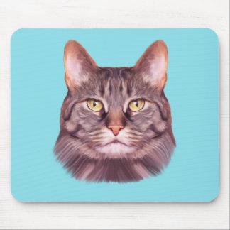 Cat Photo Portrait Mouse Pad