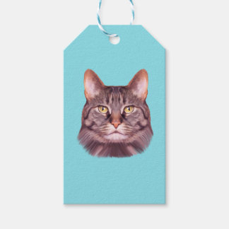 Cat Photo Portrait Pack Of Gift Tags