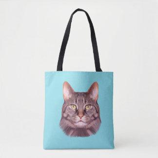 Cat Photo Portrait Tote Bag