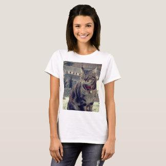 Cat Photo Women's Basic T-Shirt, White T-Shirt