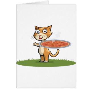 Cat Pizza Card