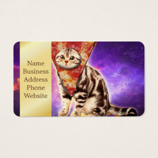 Cat pizza - cat space - cat memes business card