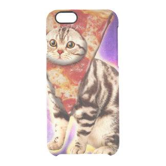 Cat pizza - cat space - cat memes clear iPhone 6/6S case