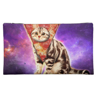 Cat pizza - cat space - cat memes cosmetic bag