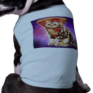 Cat pizza - cat space - cat memes doggie tee shirt
