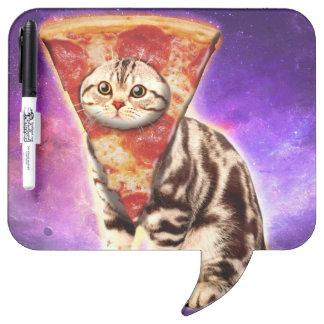 Cat pizza - cat space - cat memes dry erase board