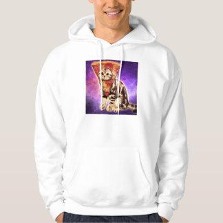 Cat pizza - cat space - cat memes hoodie