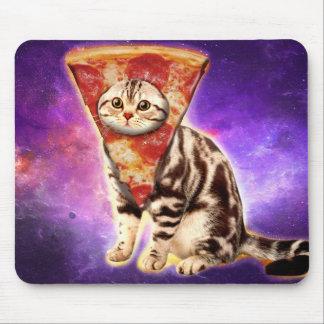 Cat pizza - cat space - cat memes mouse pad