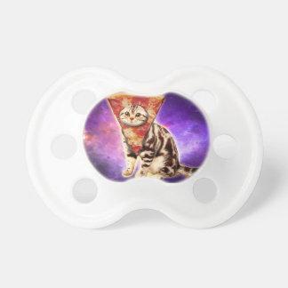 Cat pizza - cat space - cat memes pacifier