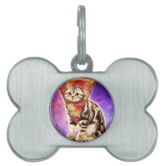 Cat pizza - cat space - cat memes pet ID tag