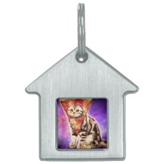 Cat pizza - cat space - cat memes pet name tag