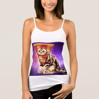 Cat pizza - cat space - cat memes tank top