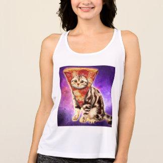Cat pizza - cat space - cat memes tank top