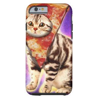 Cat pizza - cat space - cat memes tough iPhone 6 case
