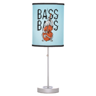 Cat Playing a Double Bass Table Lamp