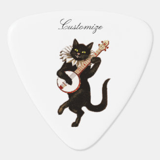 Cat playing Banjo Thunder_Cove Guitar Pick