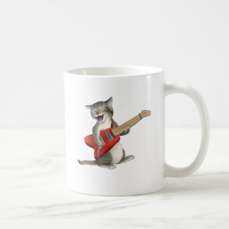 Cat Playing Guitar Coffee Mug