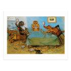 Cat Playing Table tennis, Louis Wain Postcard