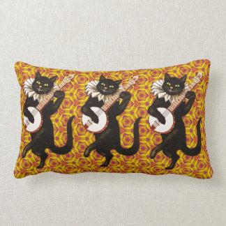 Cat Playing the Banjo Lumbar Pillow