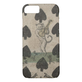 cat playing the fiddle playing card iPhone 7 case